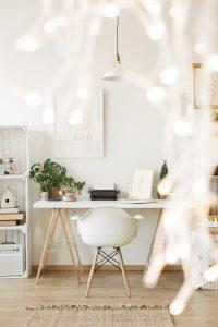Creative white desk